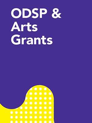 ODSP and Arts Grant Cover